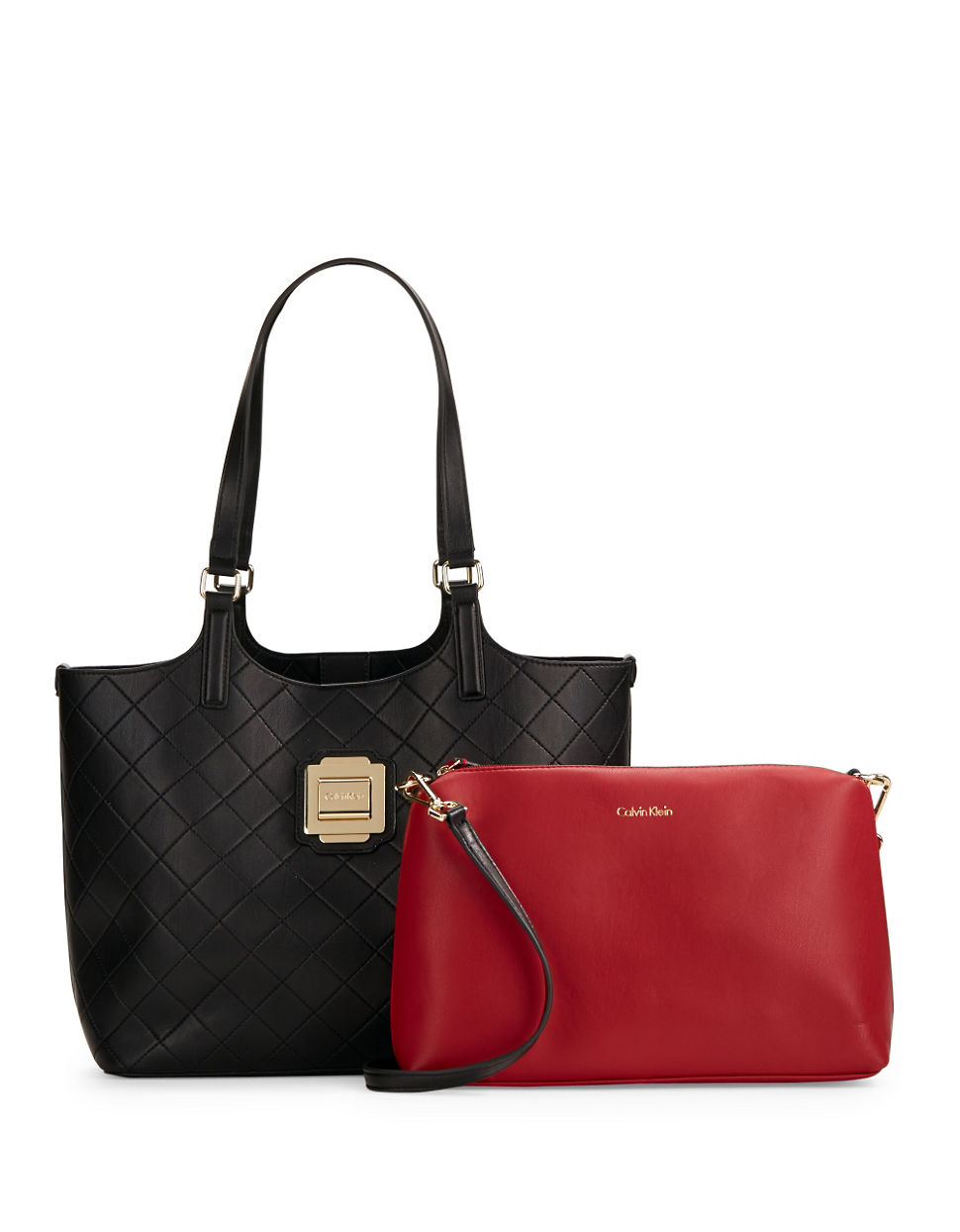 Calvin Klein Quilted Faux Leather Tote In Black Lyst