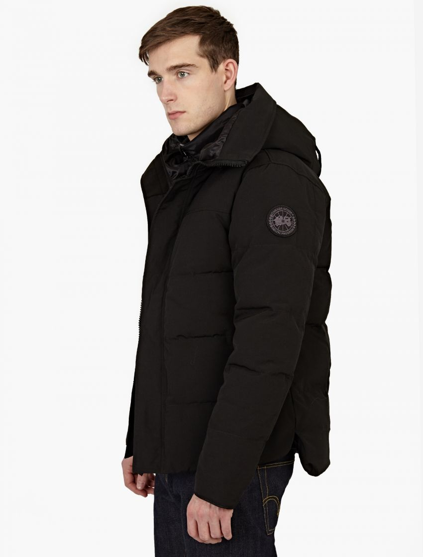 canada goose jacket black logo