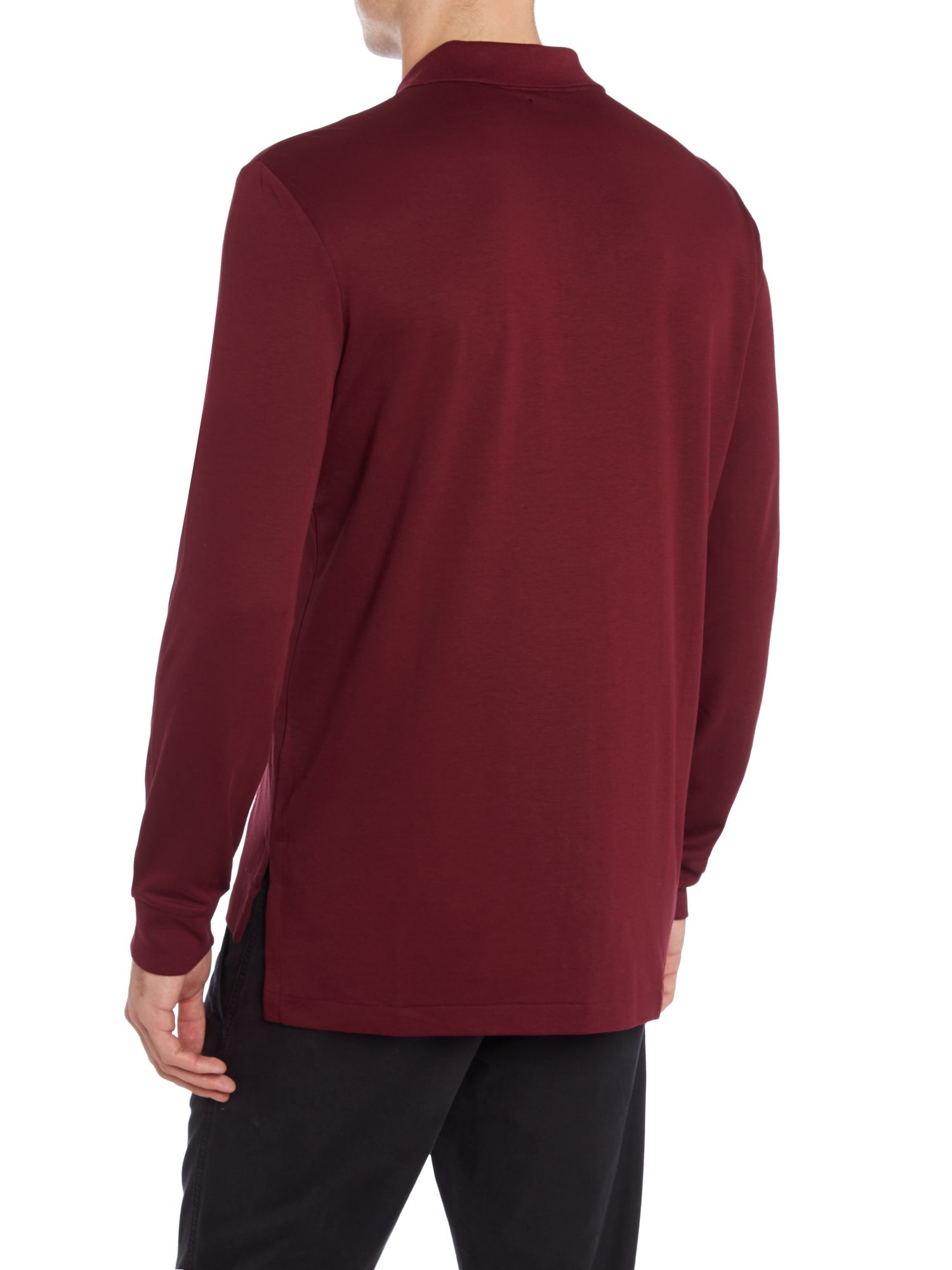polo ralph lauren long sleeve polo sweat shirt in purple for men burgundy lyst. Black Bedroom Furniture Sets. Home Design Ideas