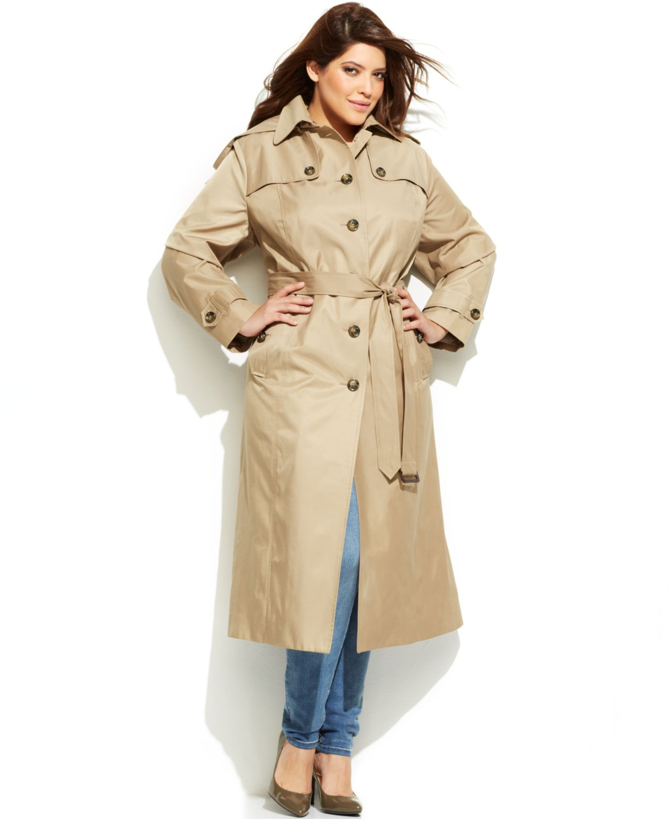 trench coat plus size women s - tradingbasis