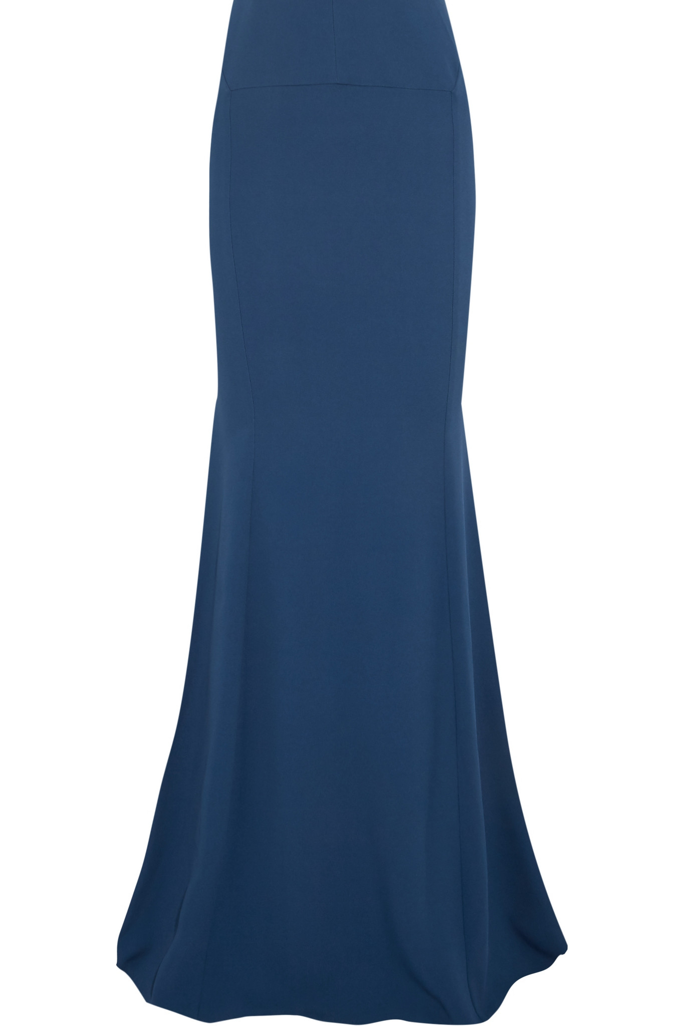 roland mouret aries crepe maxi skirt in blue lyst
