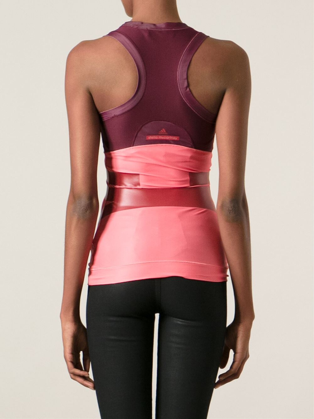df9d0b327bded adidas By Stella McCartney Run Tank Top in Pink - Lyst