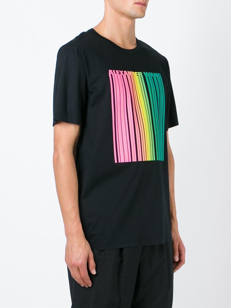 Lyst Alexander Wang Barcode Cotton T Shirt In Black For Men