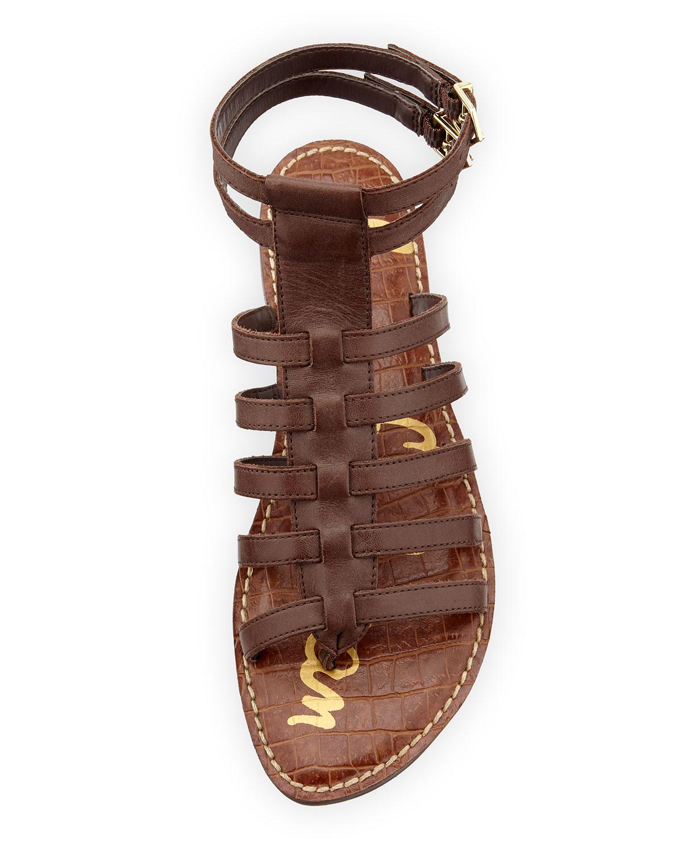 Lyst Sam Edelman Gilda Flat Leather Gladiator Sandal