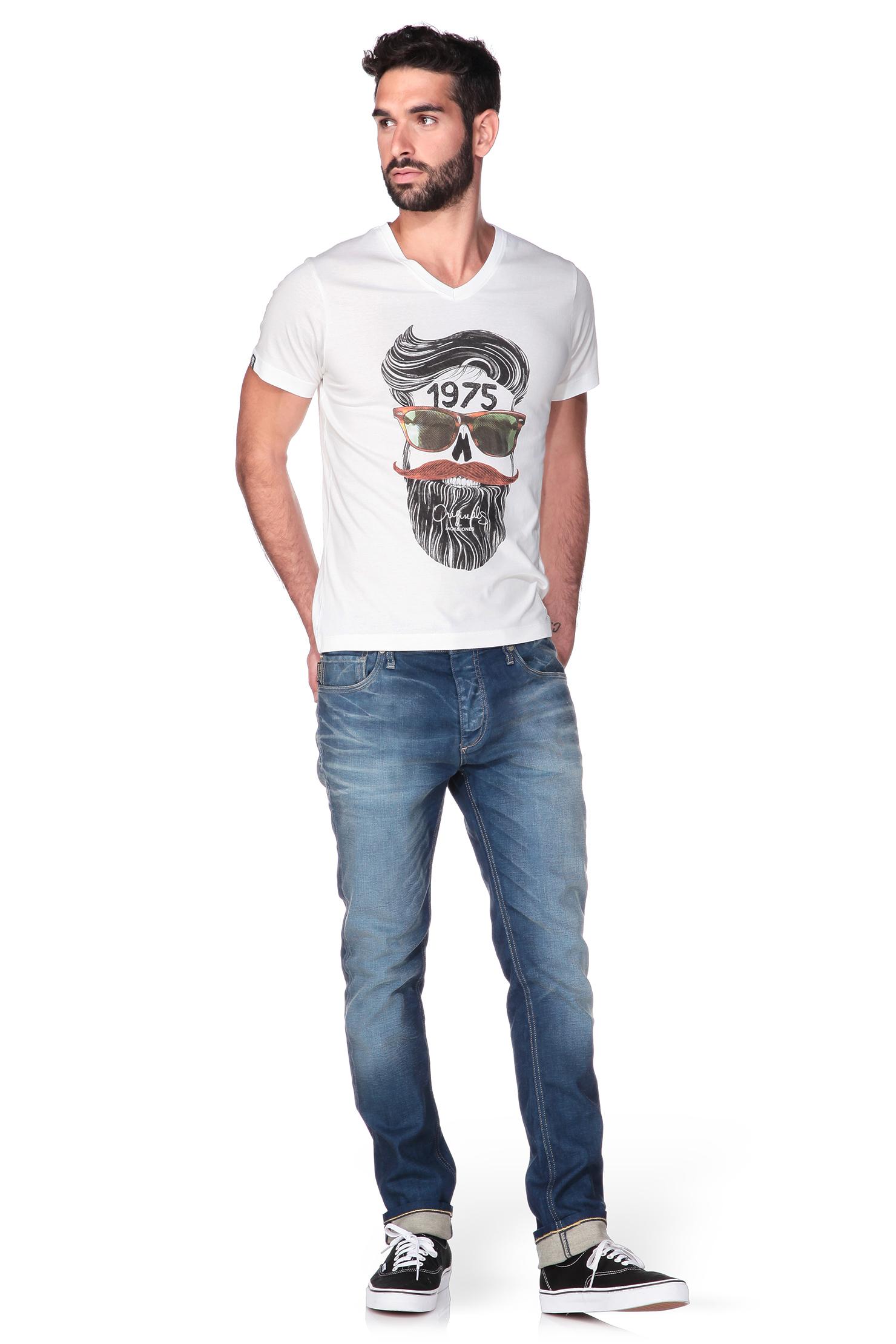jack jones short sleeve t shirt in white for men lyst. Black Bedroom Furniture Sets. Home Design Ideas