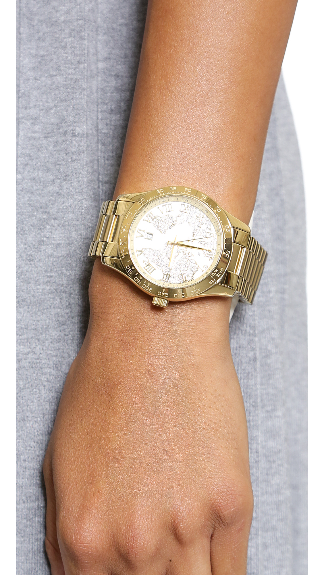 Lyst michael kors global glam layton watch gold in metallic gallery gumiabroncs Images