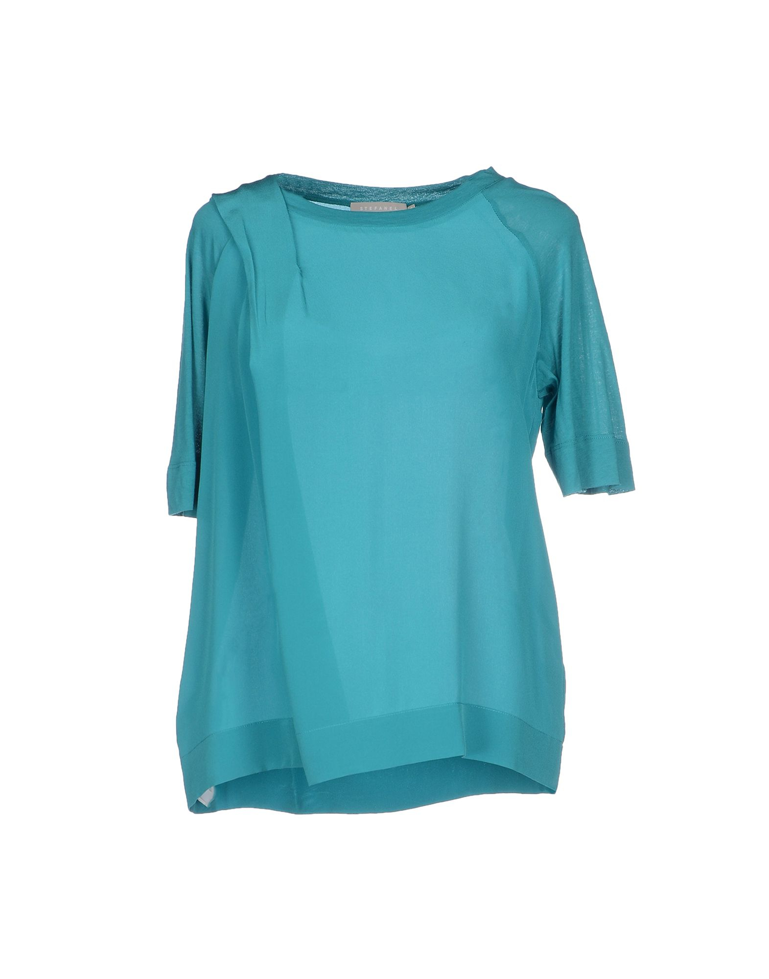 Turquoise Womens Blouses Collar Blouses