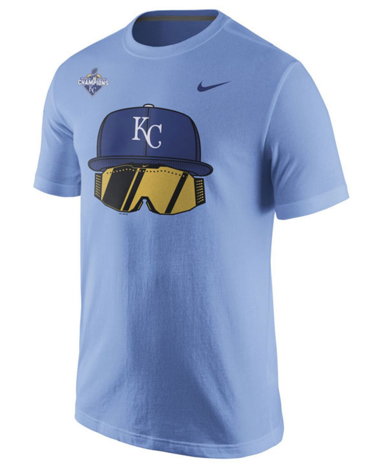 the best attitude 5560d 51361 Nike Men s Kansas City Royals Celebration Goggles T-shirt in Blue ...