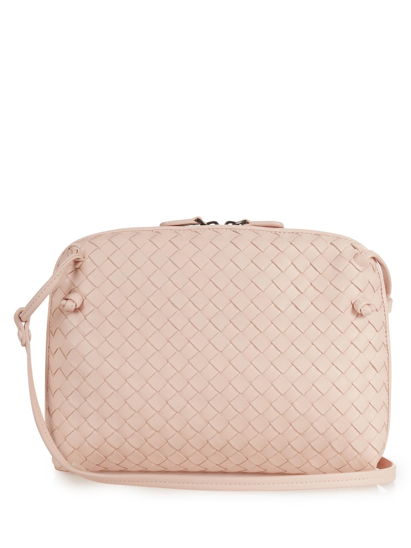 48f69a30db3 ... Shoulder Bag  best service e78b6 c31a7 Lyst - Bottega Veneta Nodini  Intrecciato Leather Cross-body ...