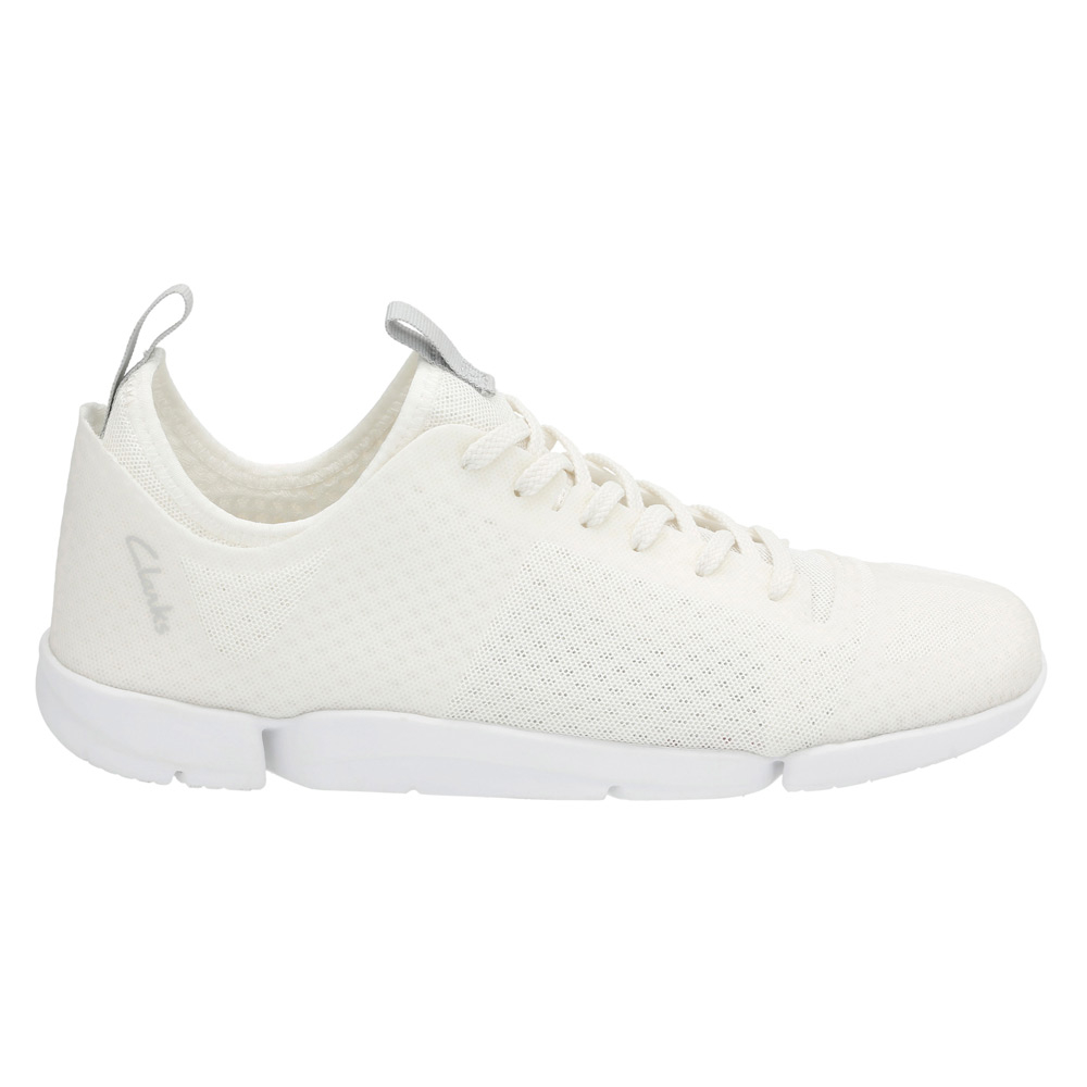 Womens Shoes Clarks Tri Aerobic White Synthetic