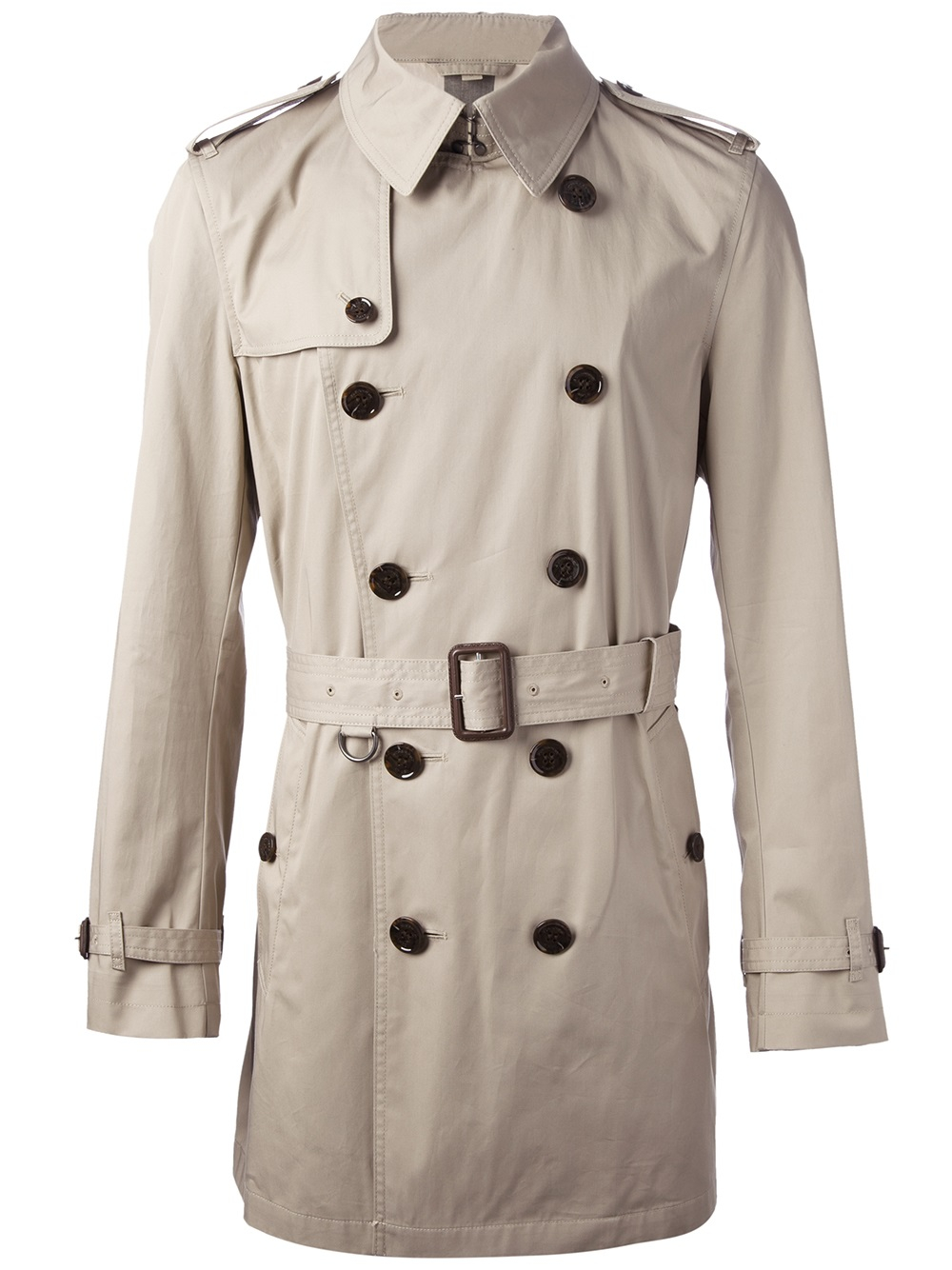 lyst burberry brit 39 britton 39 trench coat in natural for men. Black Bedroom Furniture Sets. Home Design Ideas
