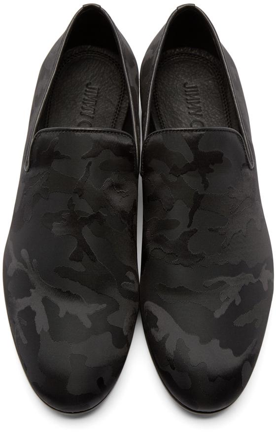 2538fea3dfa6 Lyst - Jimmy Choo Black Camouflage Sloane Loafers in Black for Men