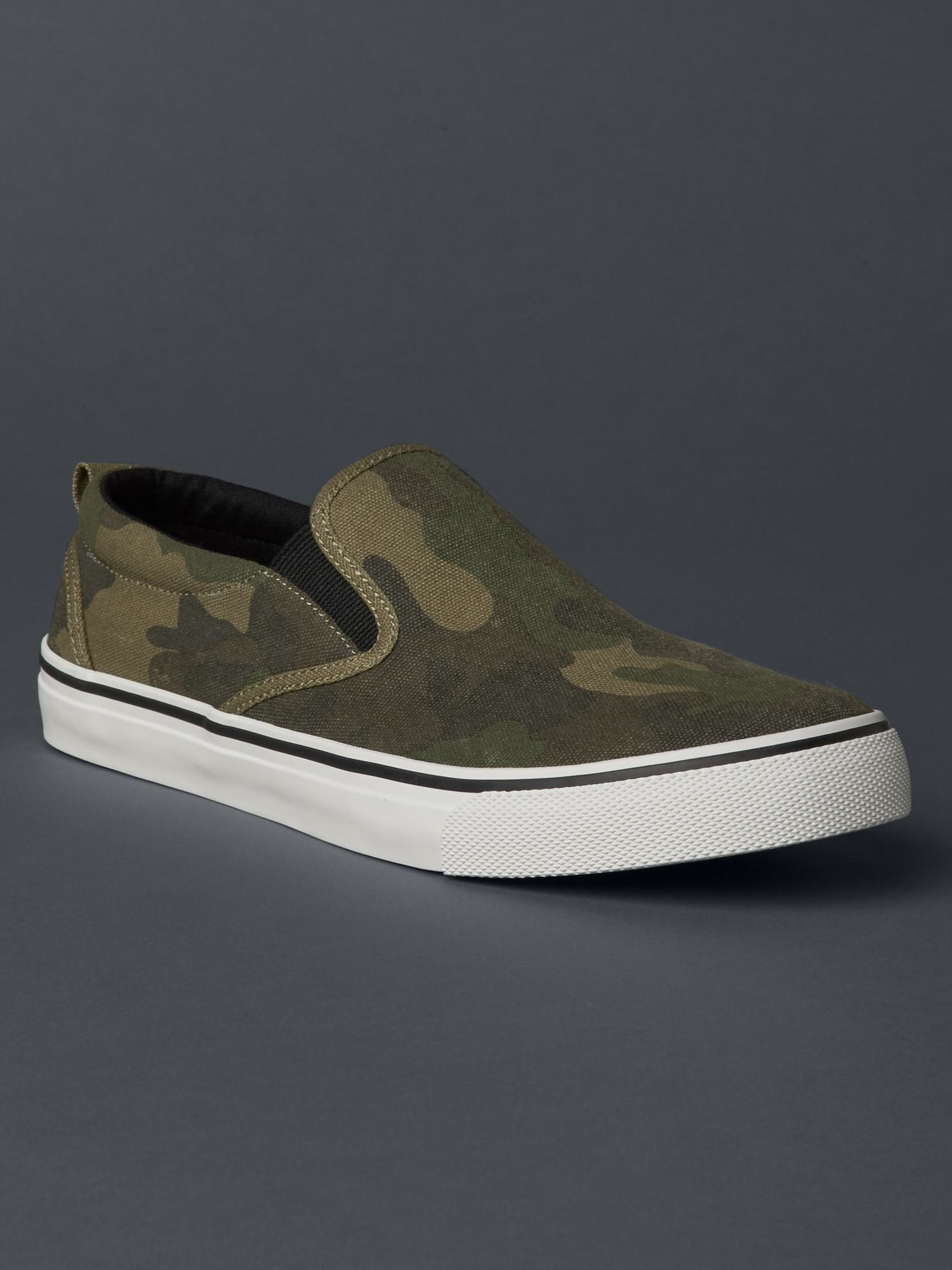 gap slip on sneakers in green for green camo lyst