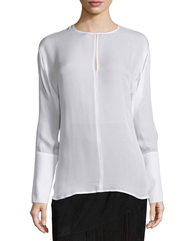 Cream Long Sleeve Blouse 52