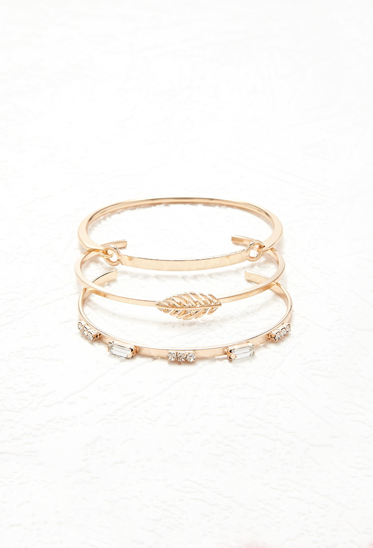 Forever 21 Feather Cuff And Bracelet