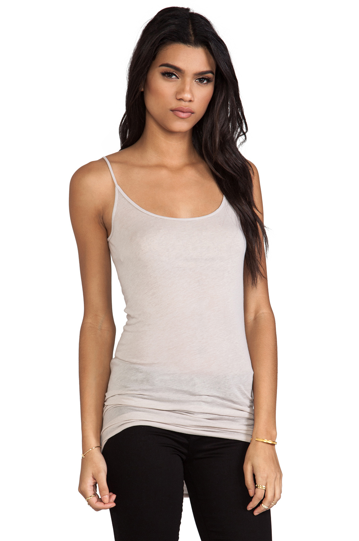 Enza Costa Womens Tissue Jersey Tunic Layer Tank