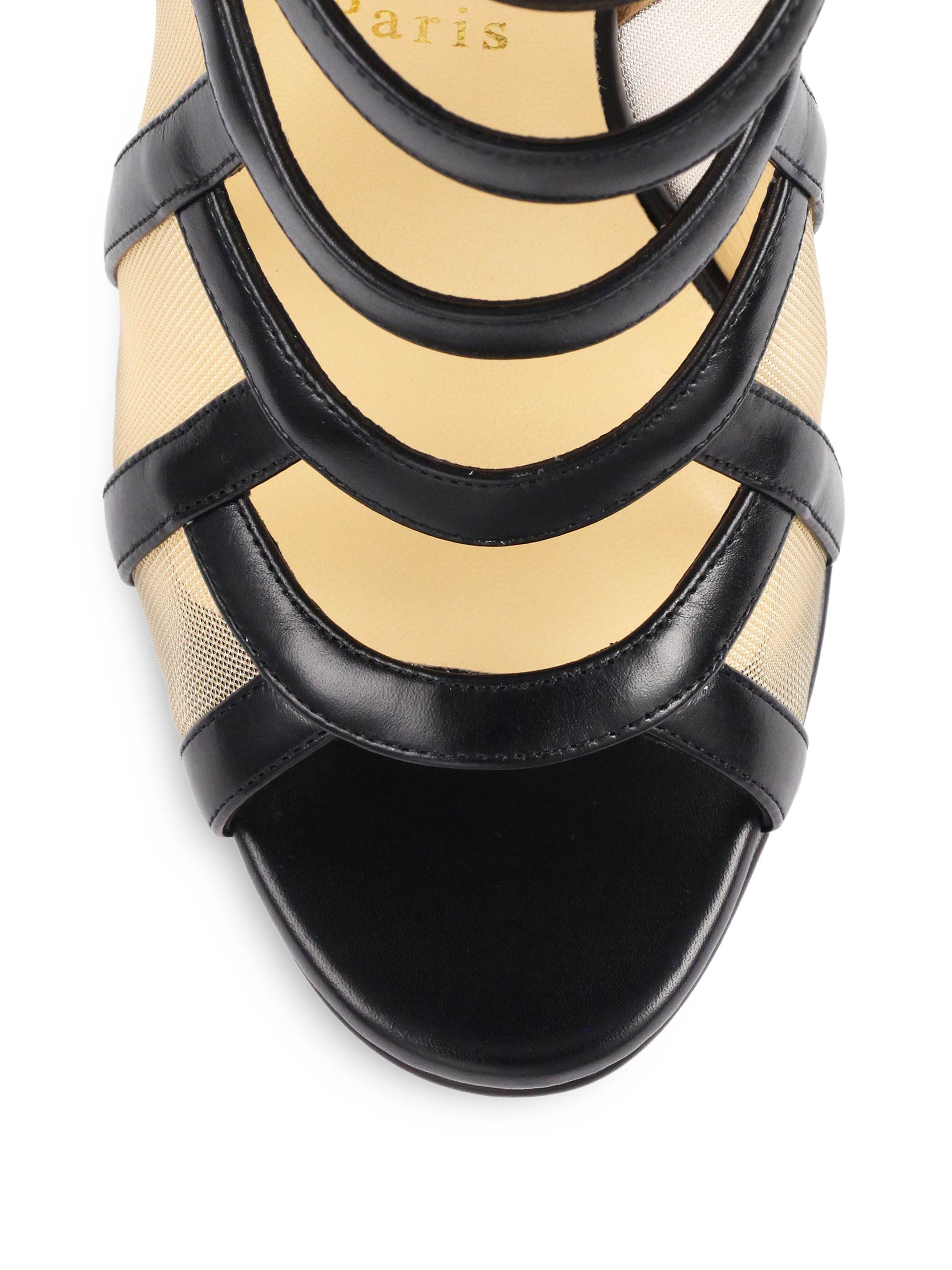christian louboutin suede cage sandals | cosmetics digital ...