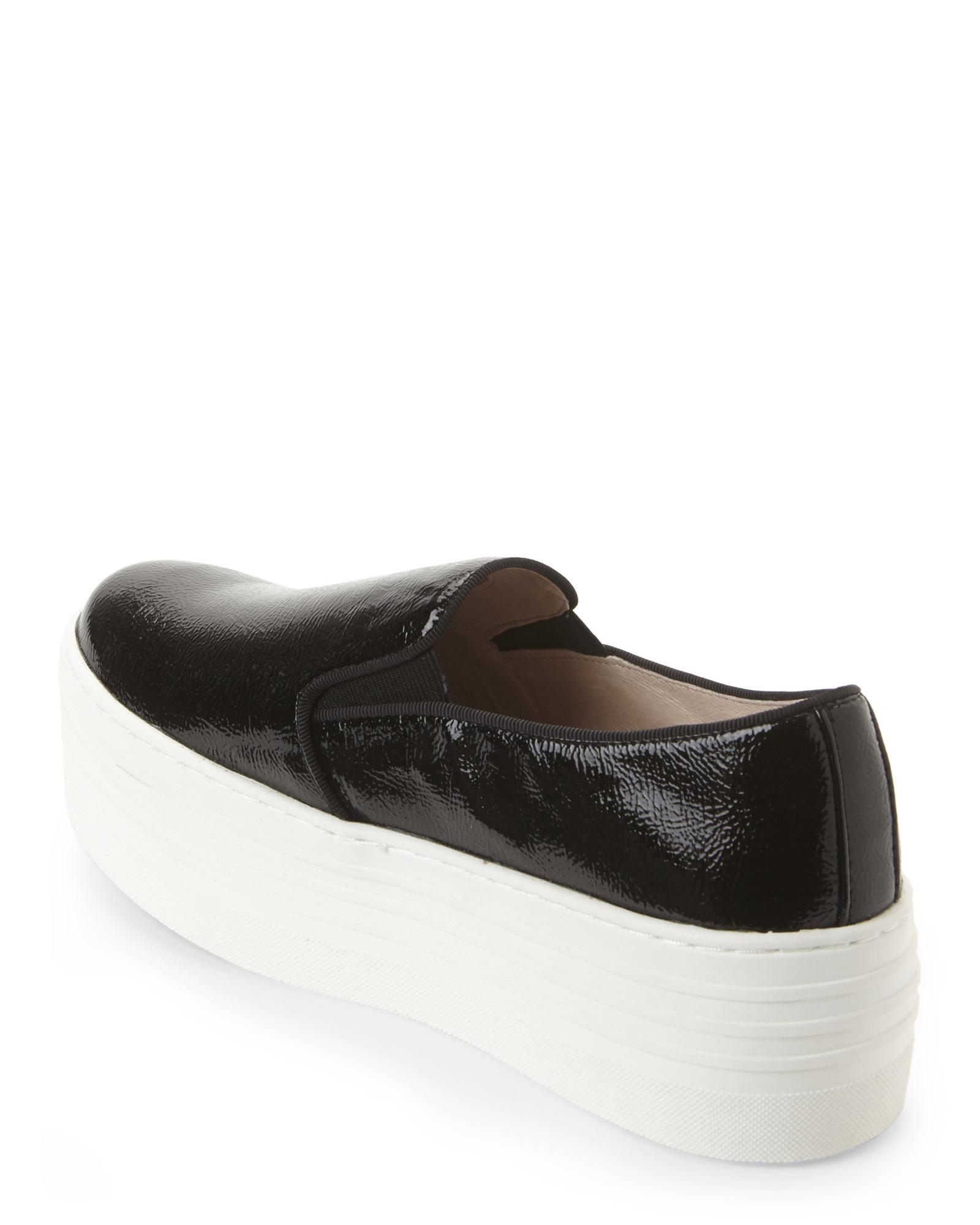 f2b85fdbf6d Steve Madden Black Patent Bellie Platform Sneakers