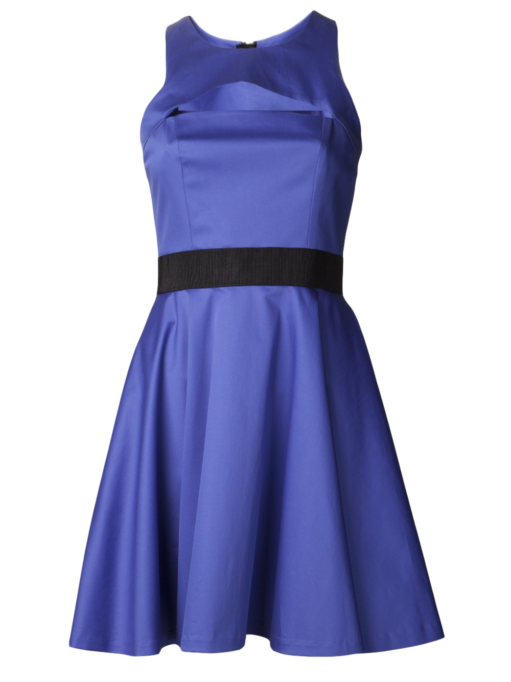 Lyst Milly Cut Out Chest Dress In Blue