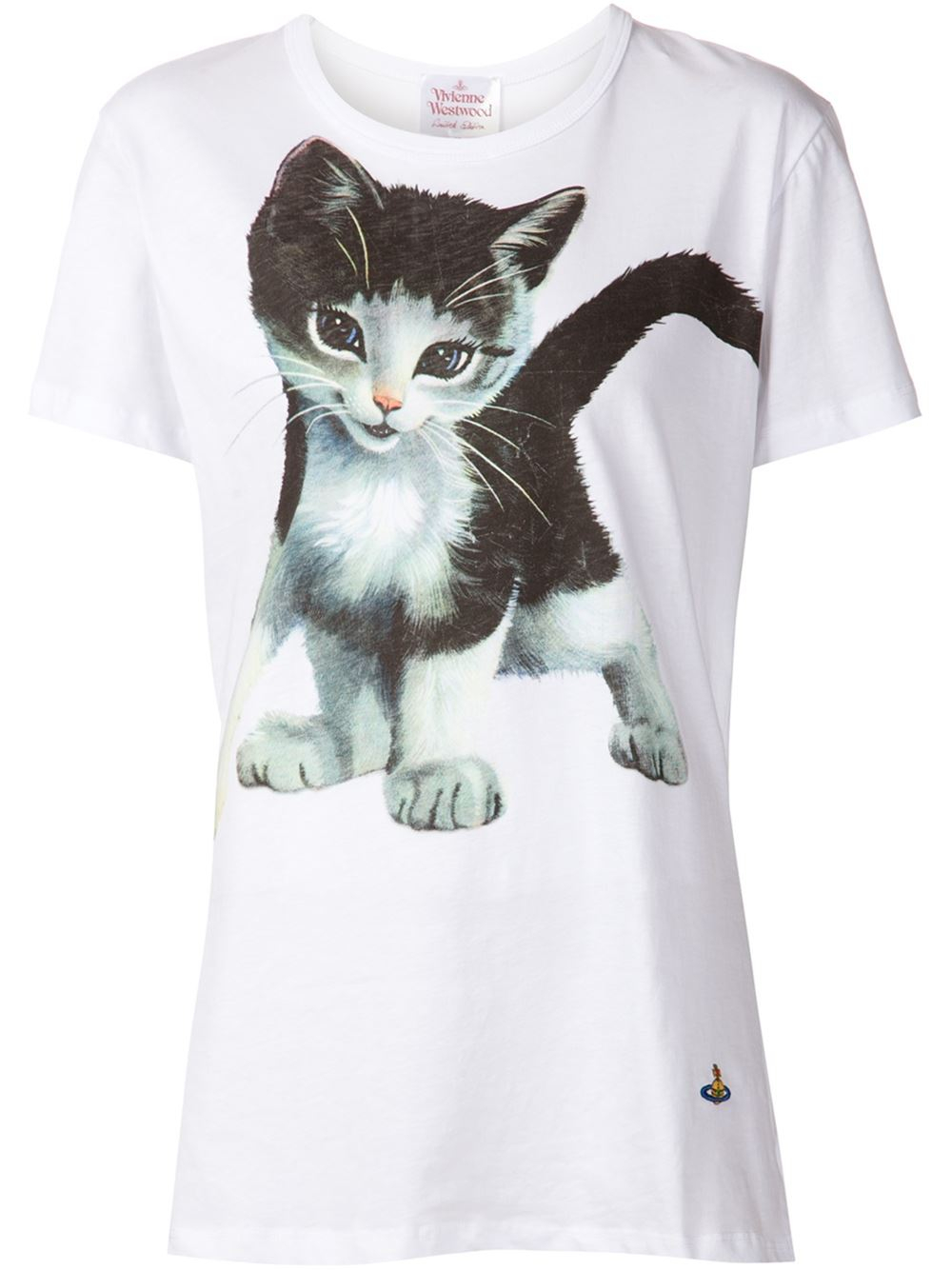 Vivienne Westwood Cat T Shirt In White Lyst