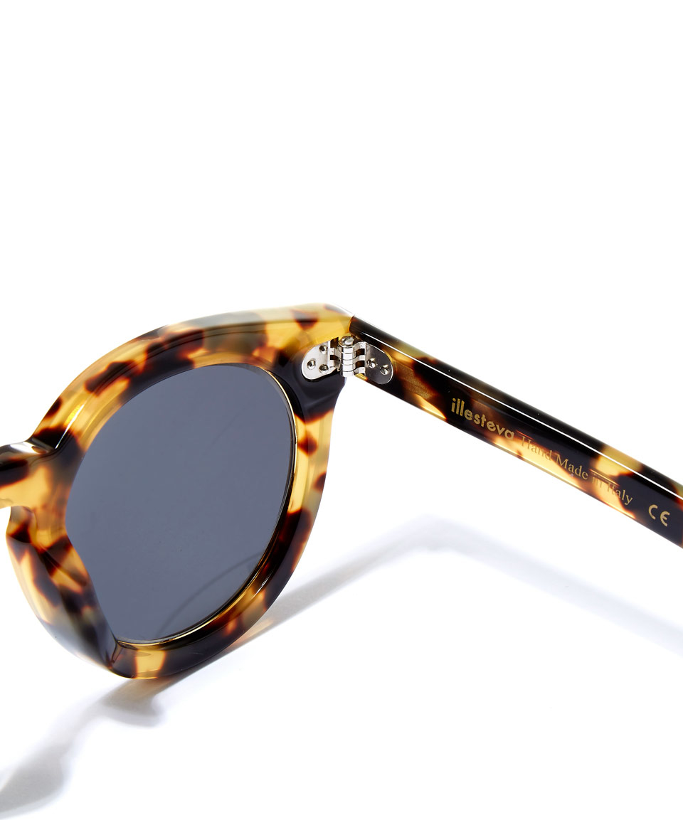 Illesteva Brown Leonard Ii Tortoise Shell Sunglasses