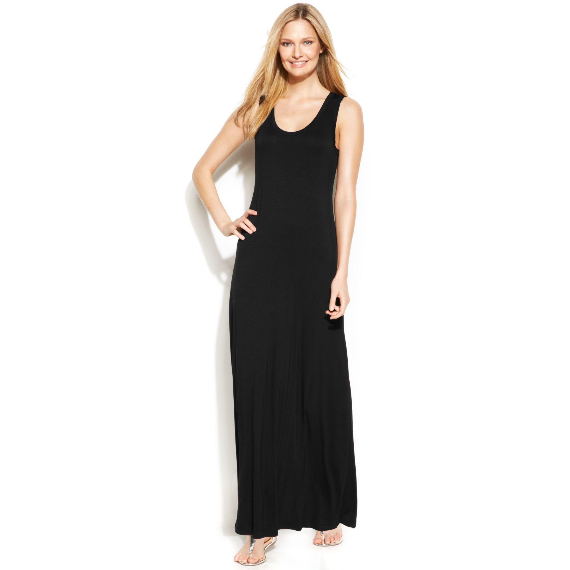 Black calvin klein maxi dress
