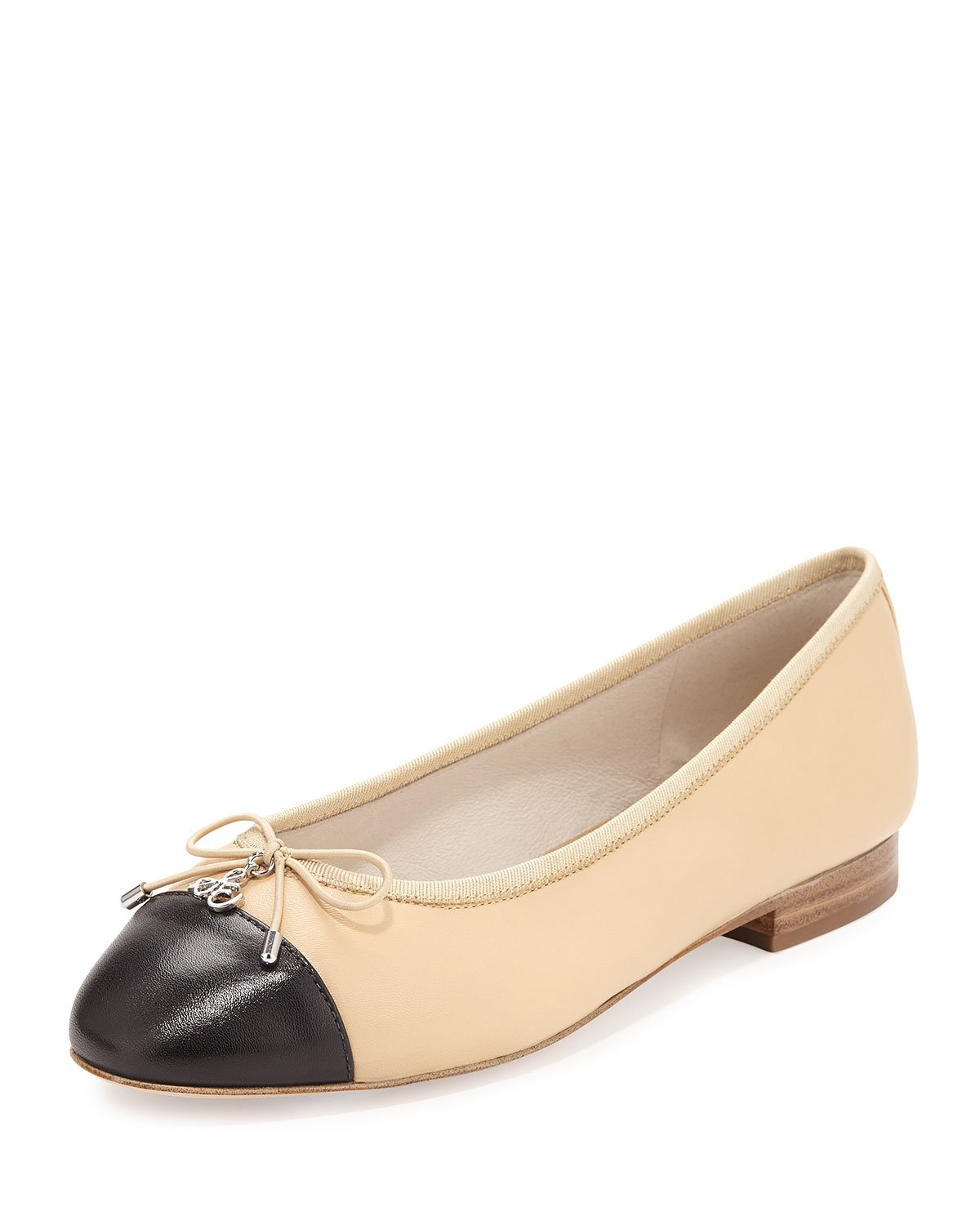 Lyst Sam Edelman Sara Cap Toe Leather Ballet Flats In