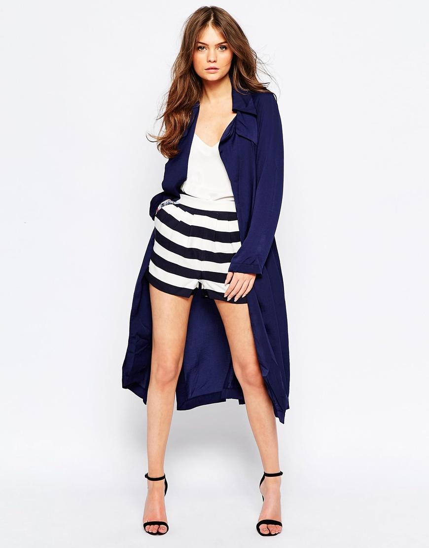 Lyst - Girls On Film Stripe Shorts - Black/white in Black