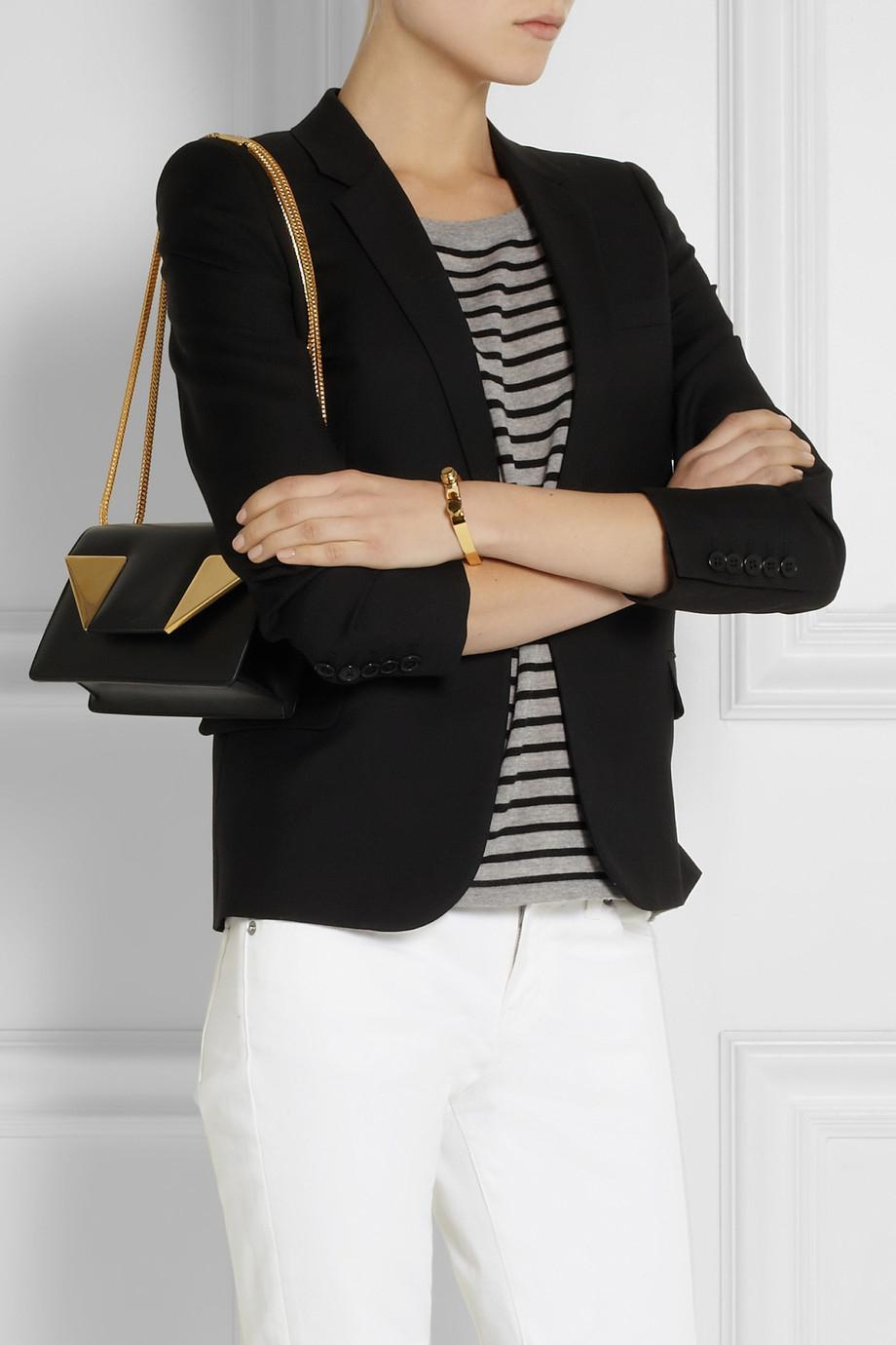 841276e941e Lyst - Saint Laurent Betty Small Leather Shoulder Bag in Black