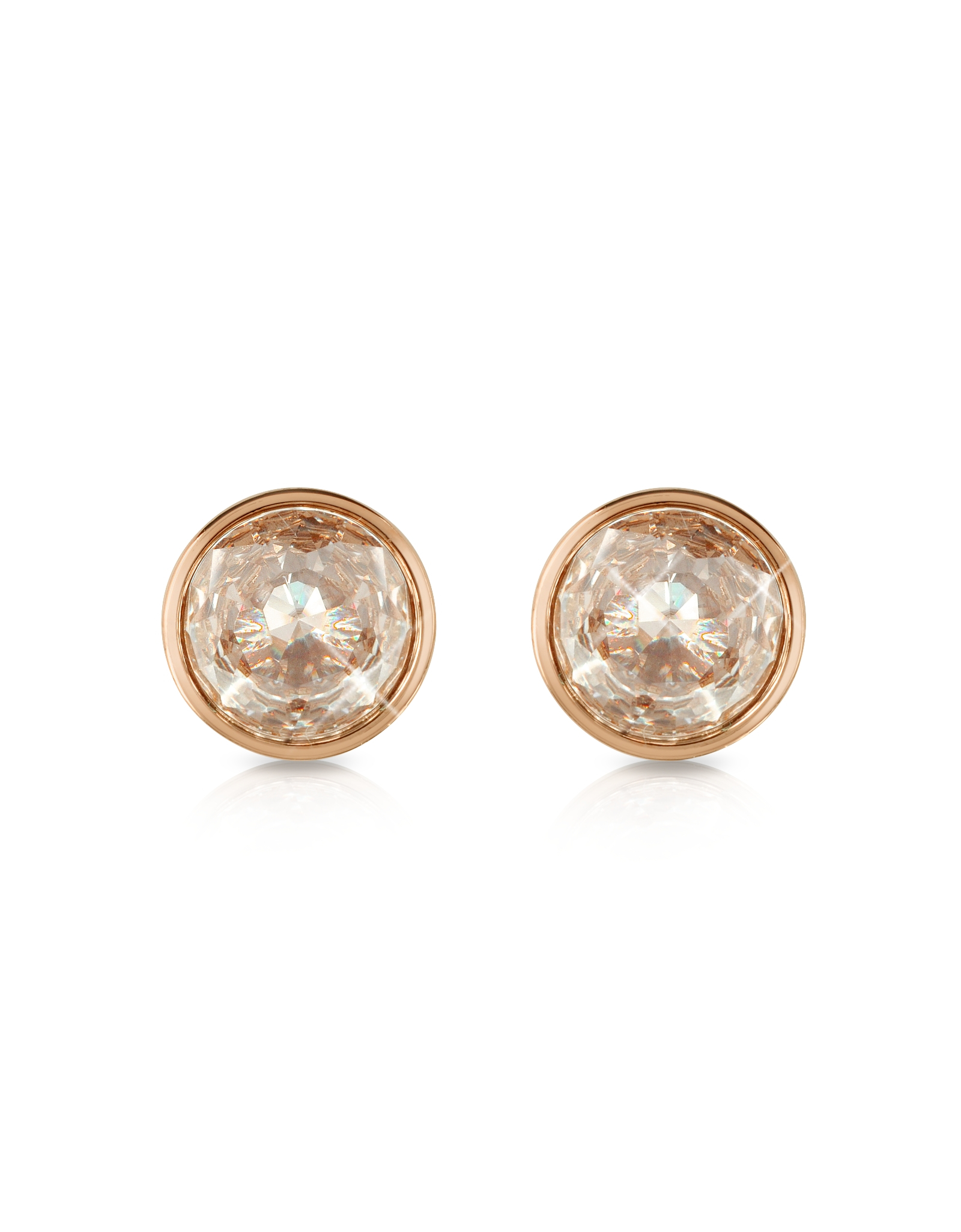 956f2663ac78 Lyst - Michael Kors Crystal Rose Gold-tone Stud Earrings in Pink