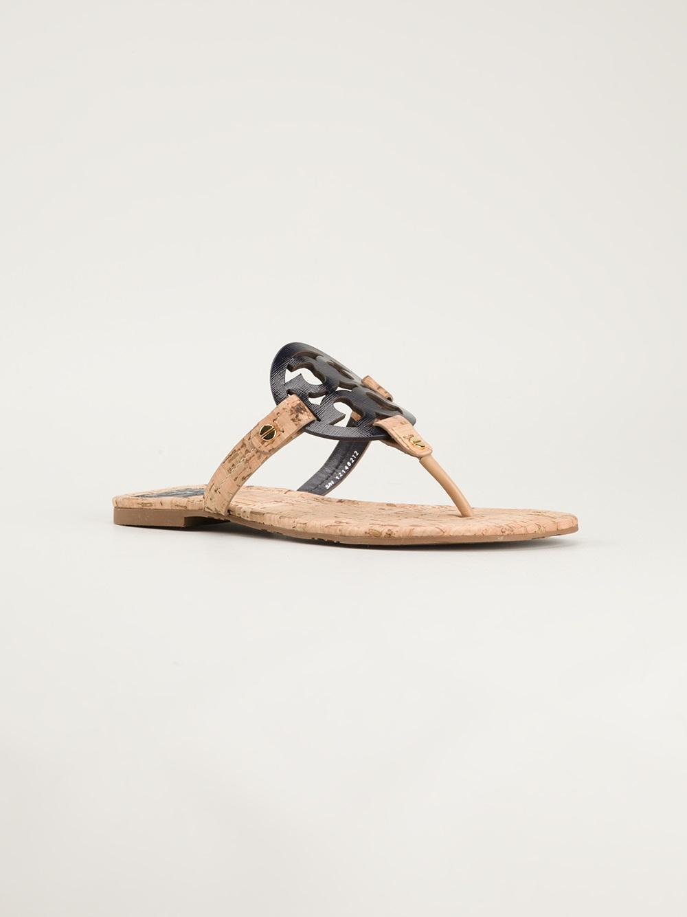 3e1d4efbd189 Lyst - Tory Burch Miller Sandals in Natural