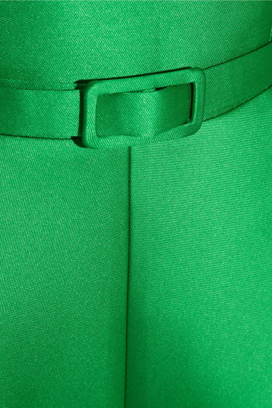 Lyst Carven Off The Shoulder Satin Crepe Dress In Green