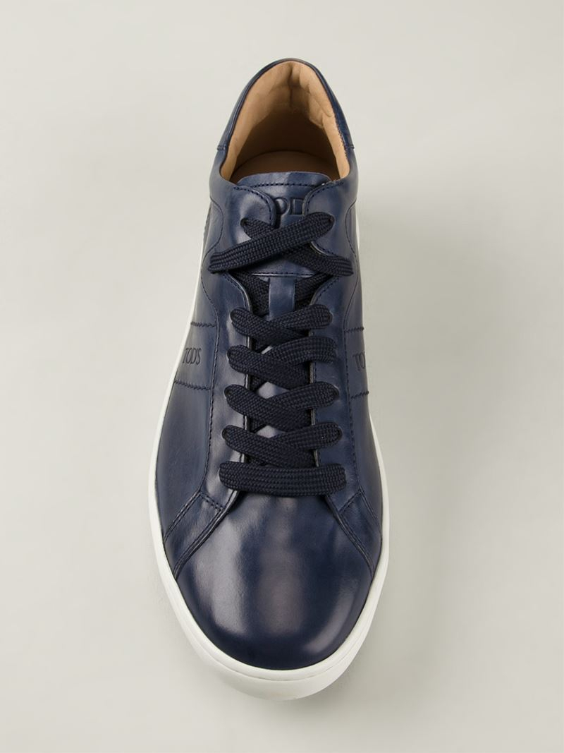 Tod's Lace-Up Leather Low-Top Sneakers