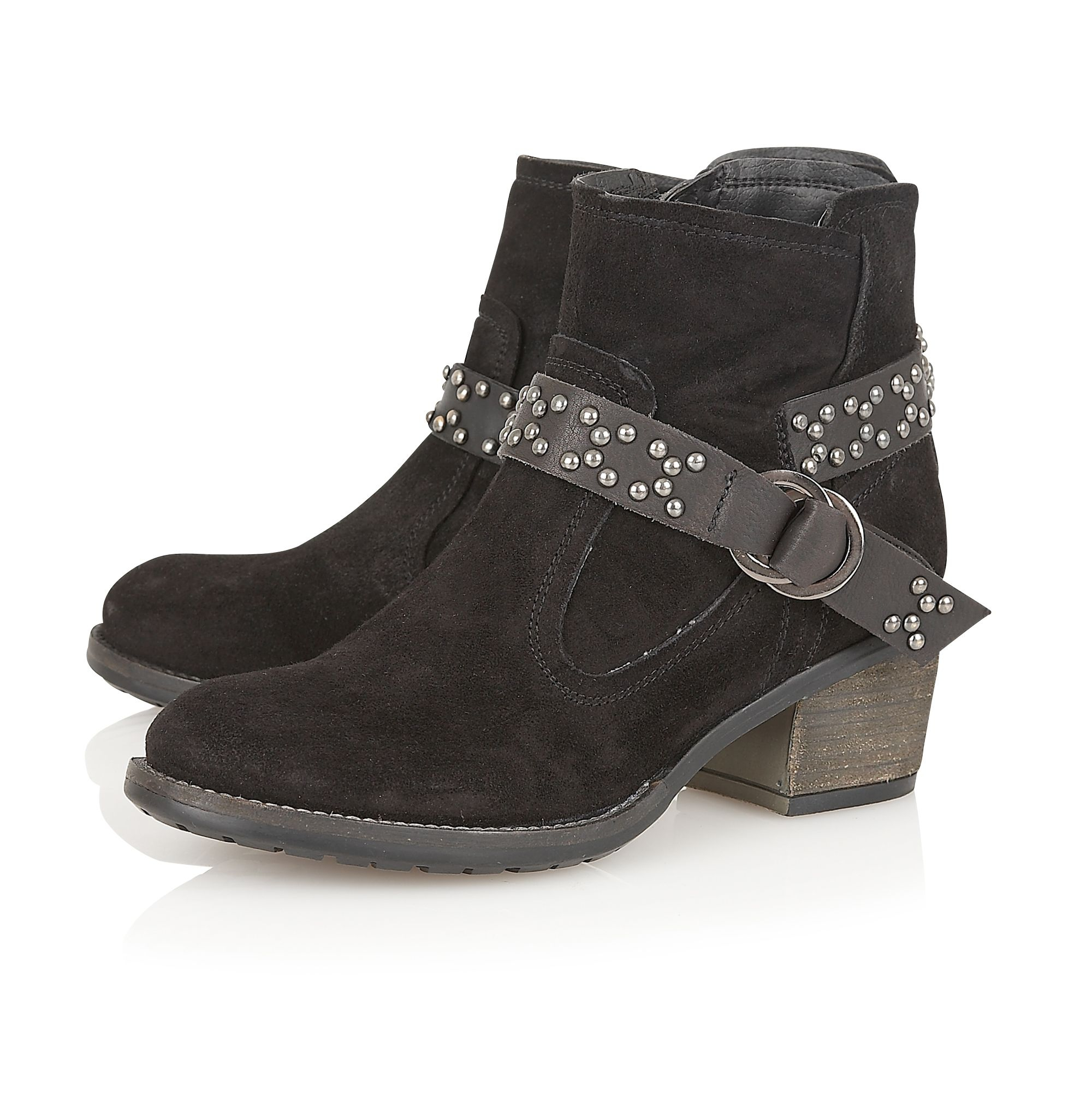 Lotus Leather Kaylah Ankle Boots in Black