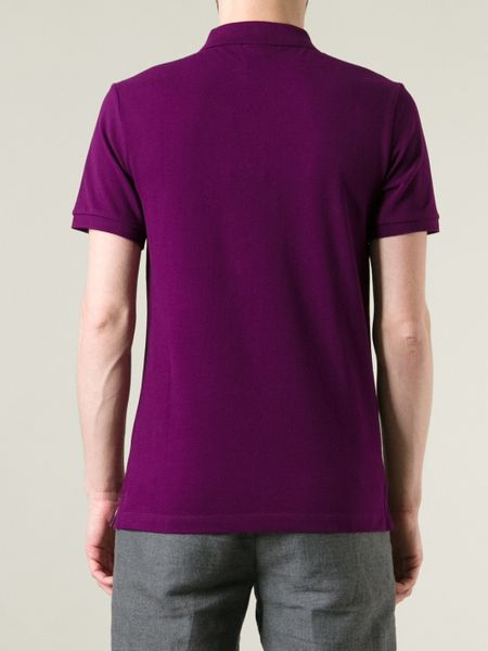 Burberry Brit Classic Polo Shirt In Purple For Men Pink