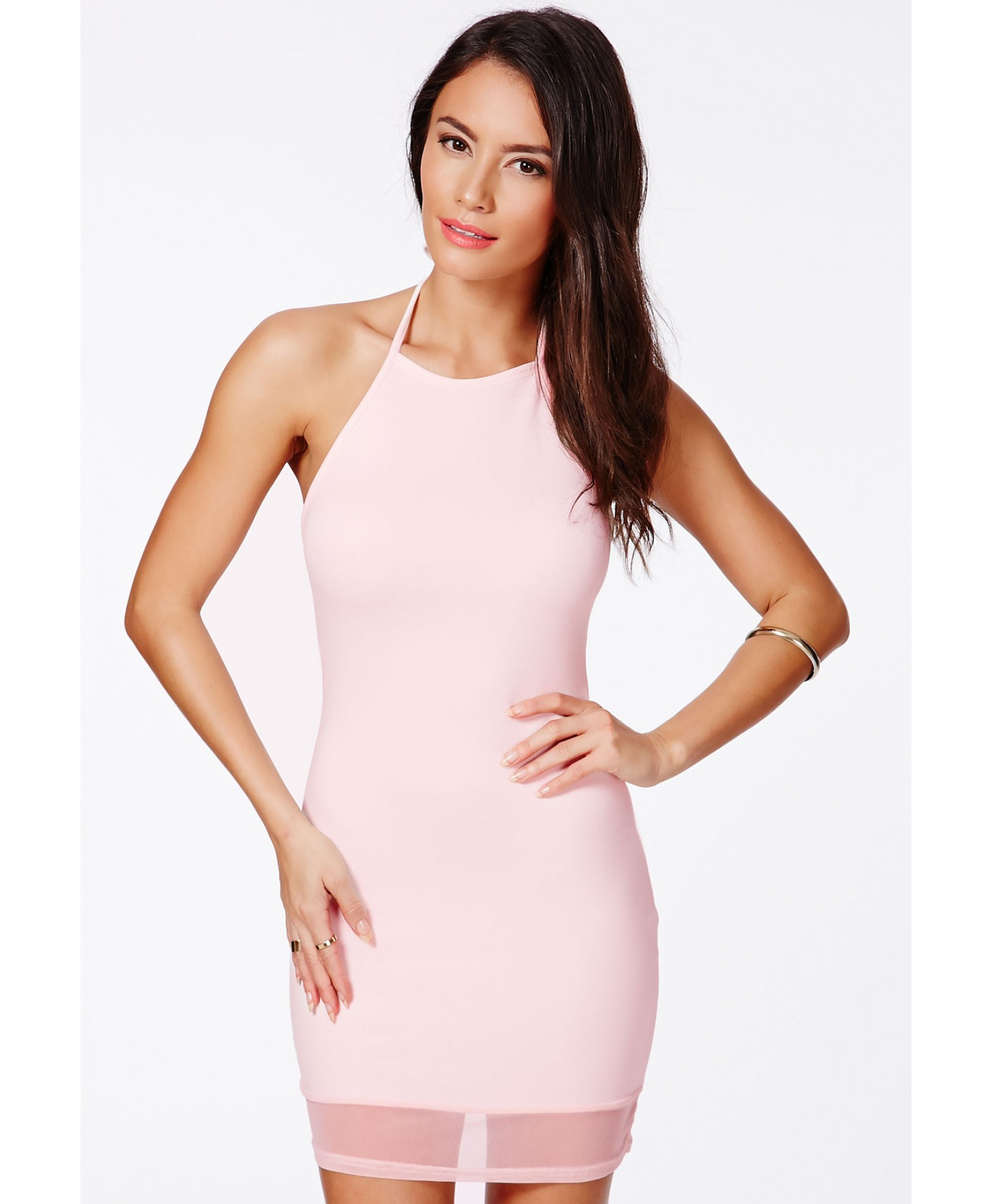 Pastel pink bodycon dress uk