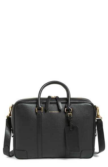 9772fd353e92 Lyst - Burberry  newburg  Leather Briefcase in Black for Men