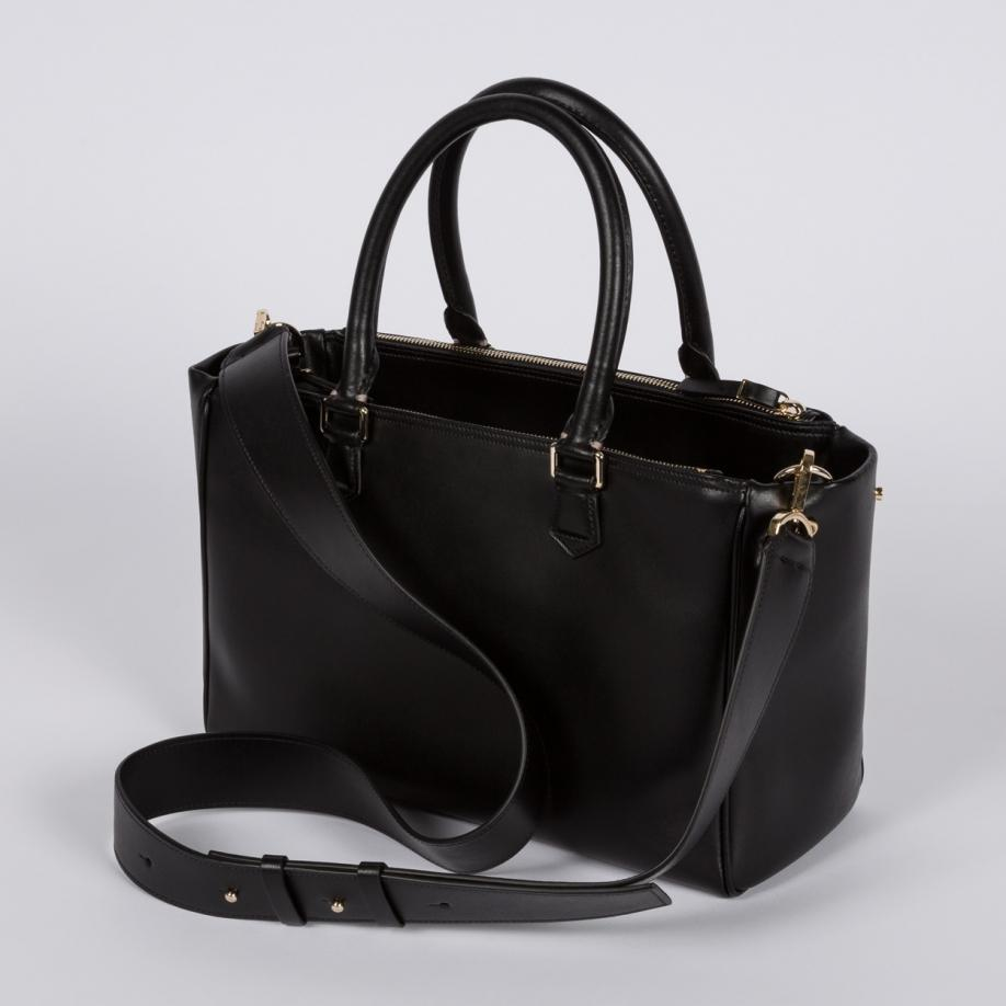 Paul smith Women's Small Black Italian Calf Leather Double Zip ...
