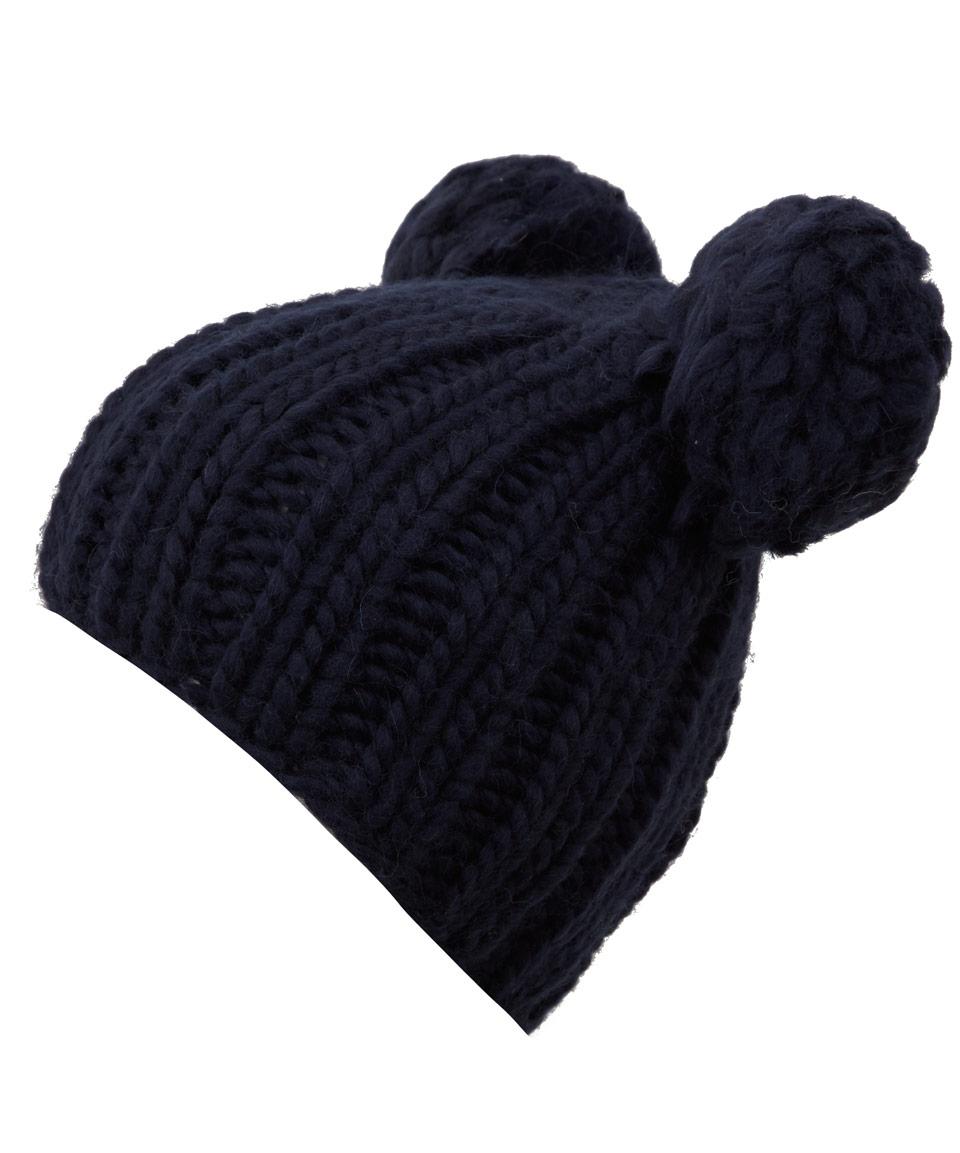 13f8fffc8 Eugenia Kim Blue Navy Mimi Pom Pom Ears Beanie Hat for men