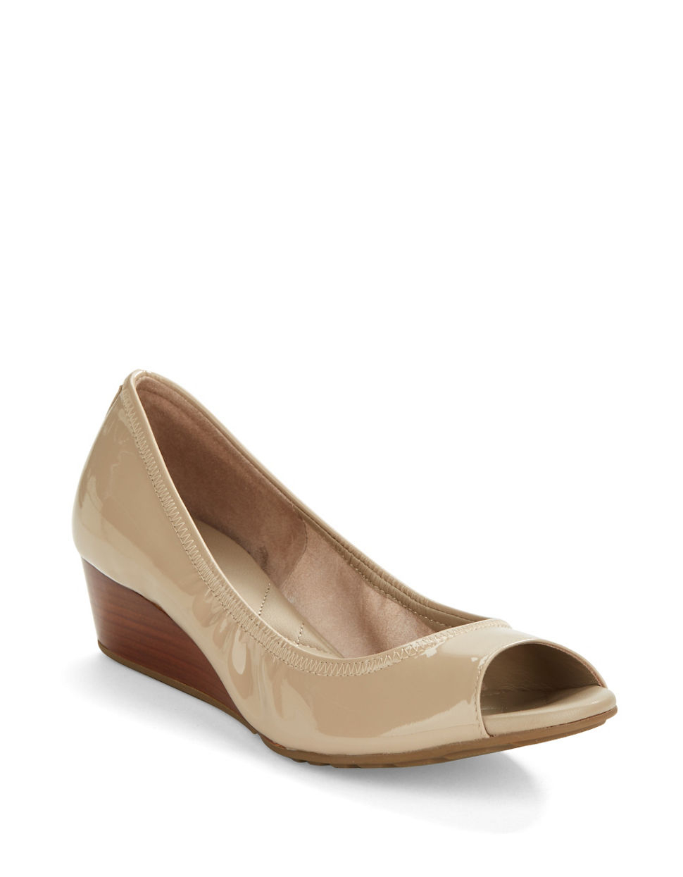 Cole Haan Tali Open Toe Stacked Wedges In Natural Lyst