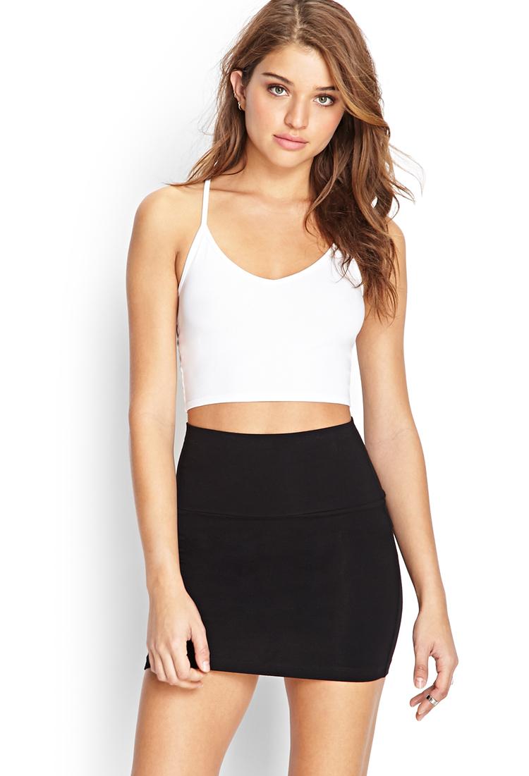 Forever 21 Knit Bodycon Skirt in Black