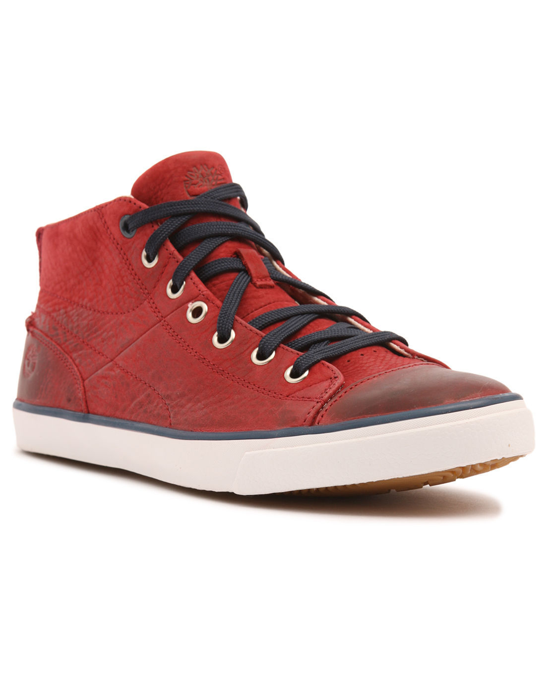 Timberland Mid Hookset Leather Bordeaux Sneakers in Red for Men   Lyst