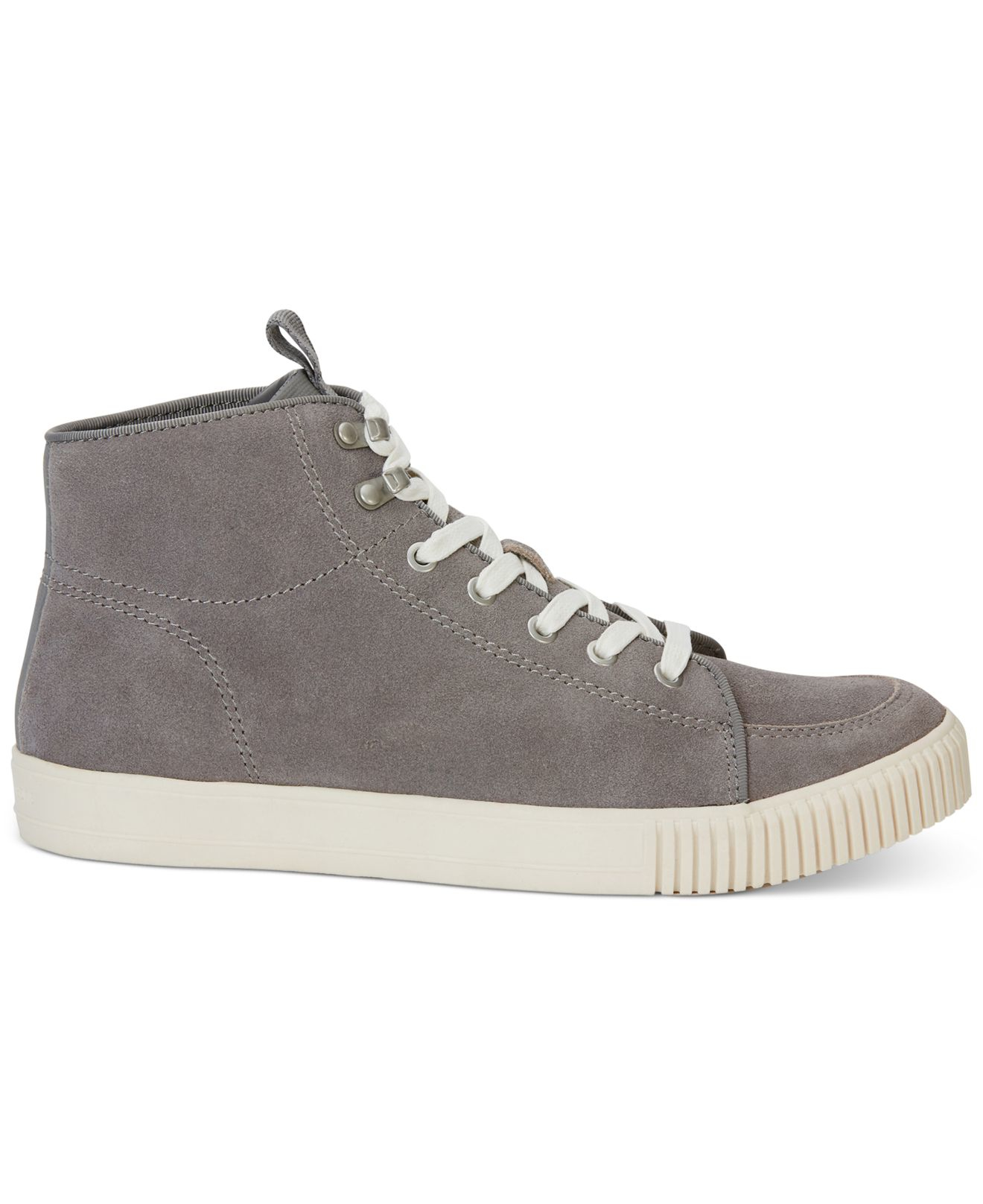 calvin klein jeans jenson high top suede sneakers in gray. Black Bedroom Furniture Sets. Home Design Ideas