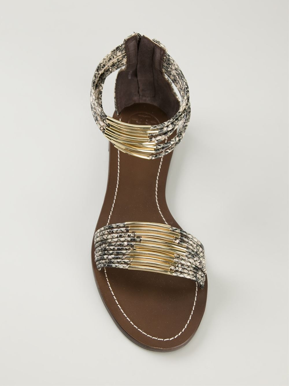 outlet Inexpensive Tory Burch Leather Embellished Sandals best wholesale cheap online wide range of sale online cheap sale release dates buy cheap price 3CiL8