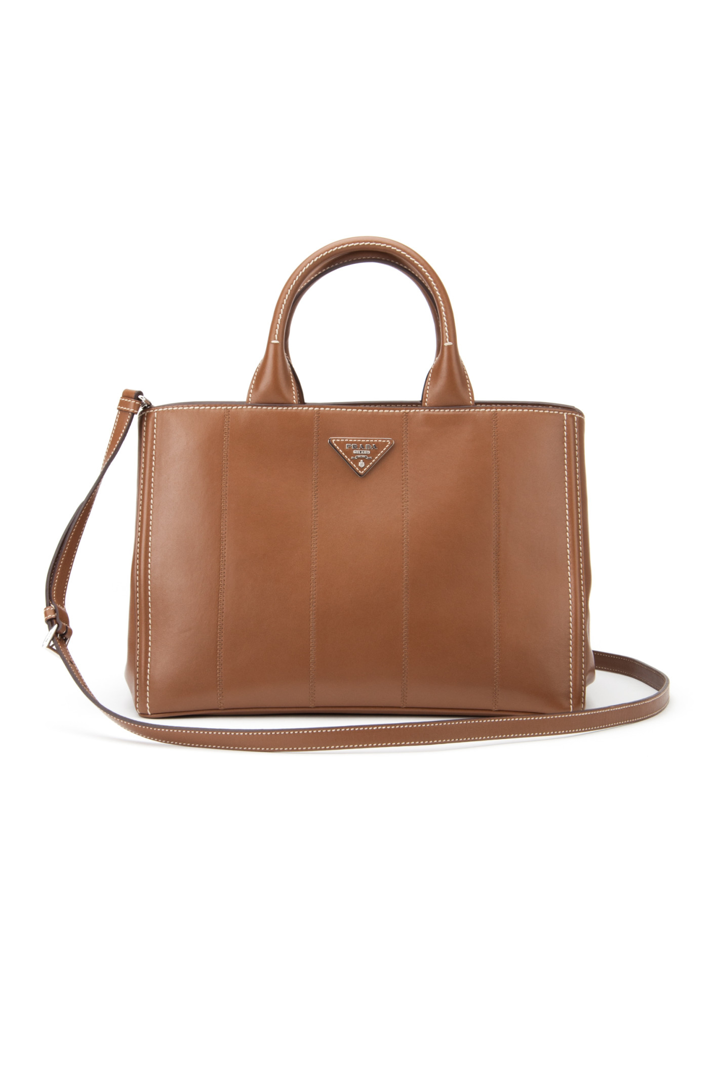 Prada Soft Calf Bag in Brown (CANNELLA) | Lyst