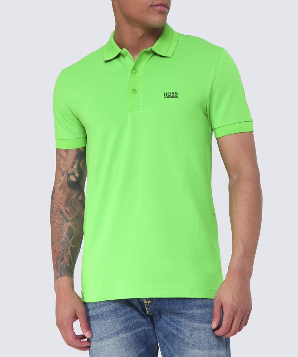 boss green paule polo shirt in green for men lyst. Black Bedroom Furniture Sets. Home Design Ideas