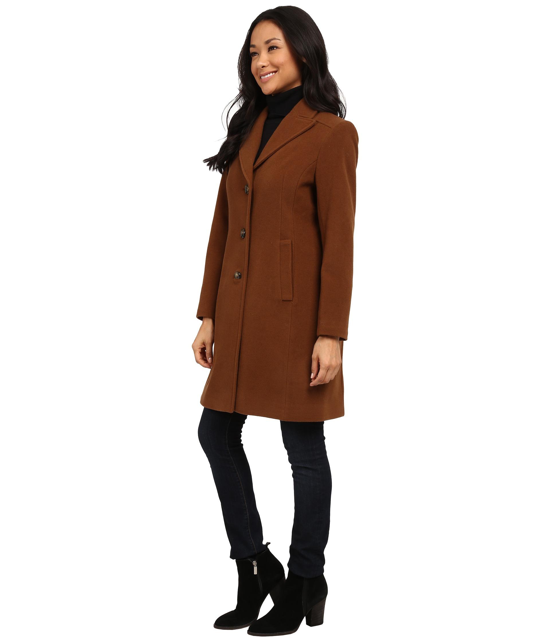 Pendleton Petite Walker Coat in Brown | Lyst
