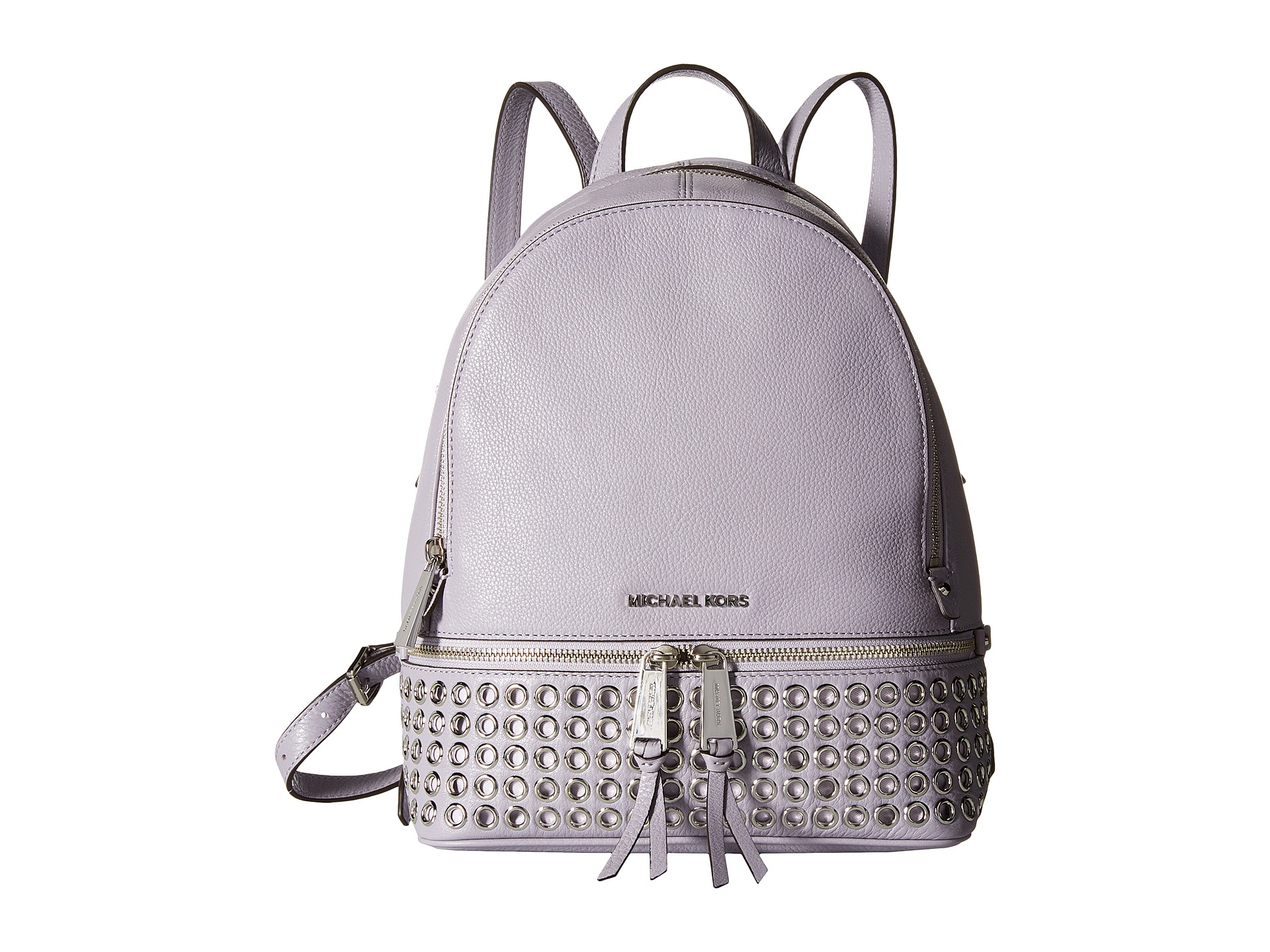 3ac8751614f2 ... closeout aliexpress lyst michael michael kors rhea zip extra small  grommet backpack in cbece 2bfd1 39605