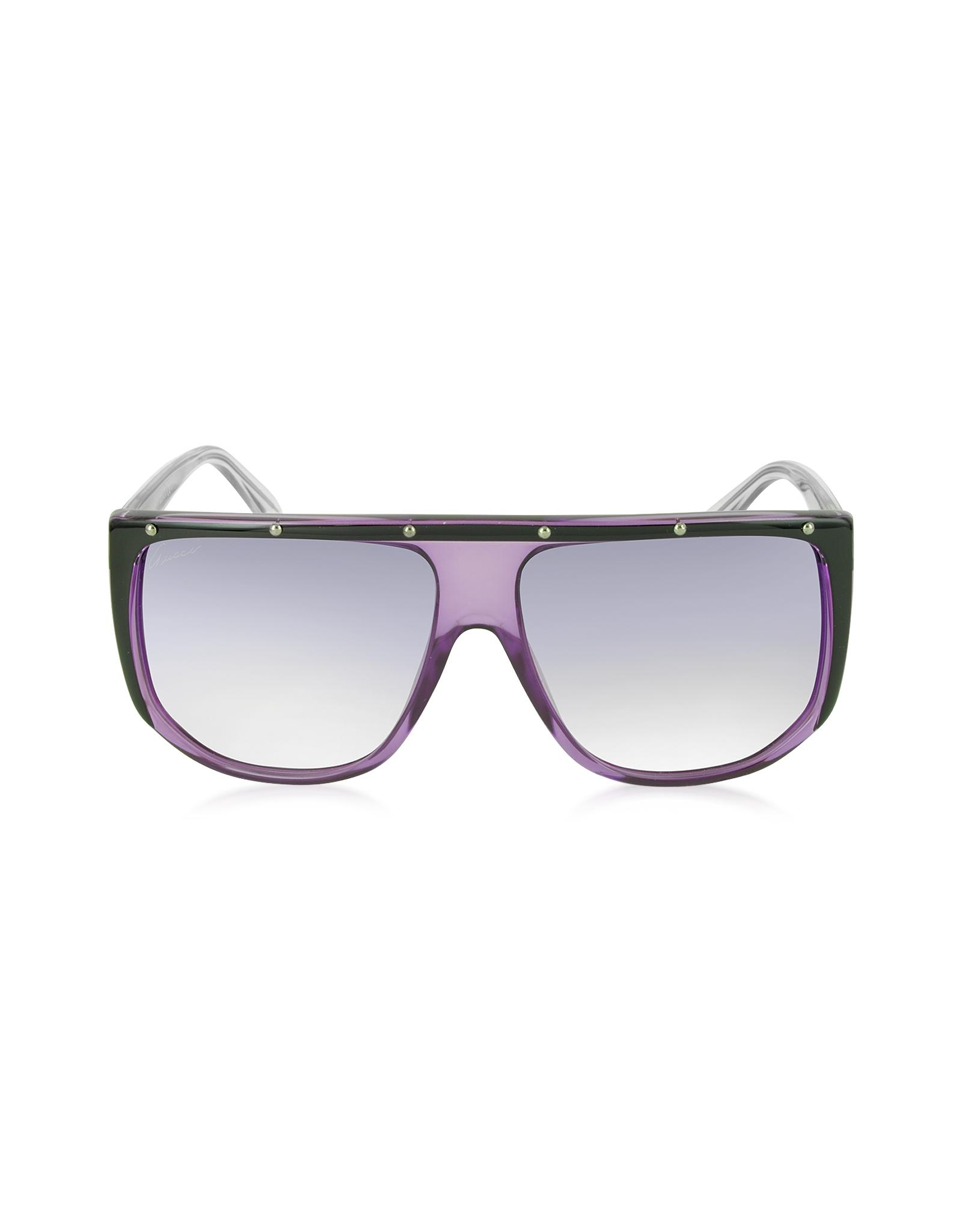 1a6c341b08b Lyst - Gucci Gg 3705 s 9w2dh Large Shaded Mask Women s Sunglasses in ...