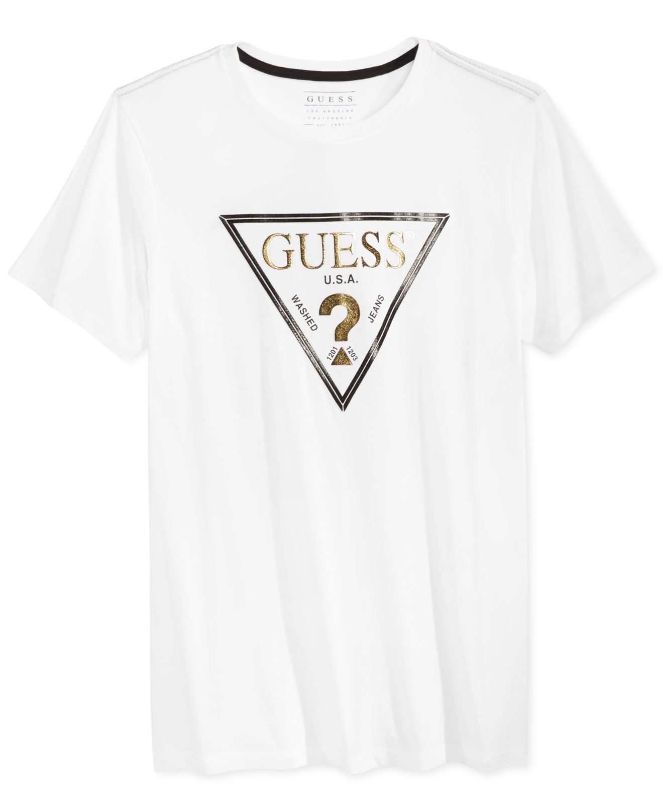 a8e4af6b Mens Guess White T Shirt | RLDM
